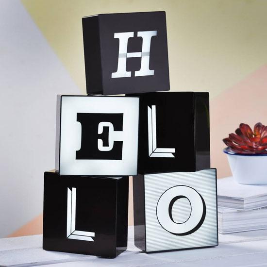 LED Alphabet typographic box lights