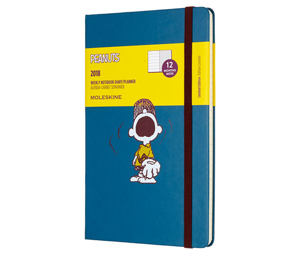 Peanuts 2018 daily and weekly planners by Moleskine