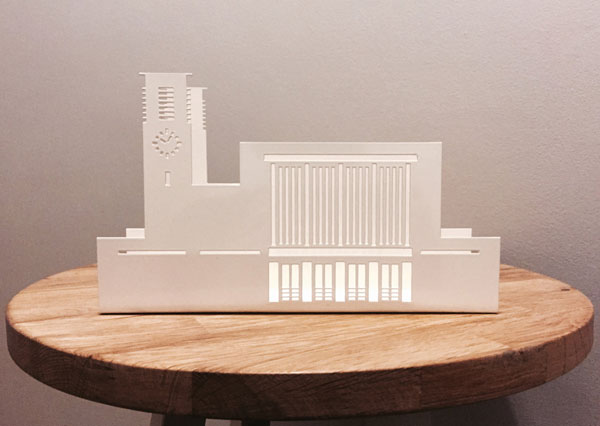 Art deco Surbiton Station letter holder by Wilhon Design