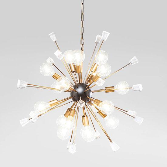 Retro Sputnik ceiling light and floor light