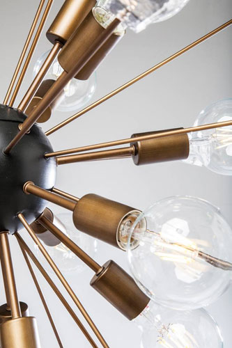 Retro Sputnik ceiling light and floor light