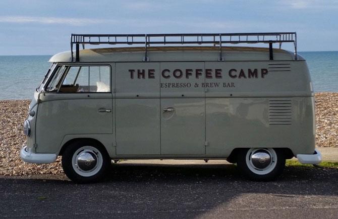 1961 Volkswagen split screen coffee van on eBay