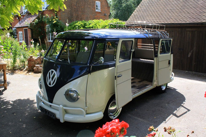 Restored 1966 Volkswagen split screen camper van on eBay