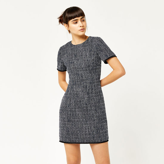 Sale watch: 1960s-style Bridget tweed shift dress at Warehouse