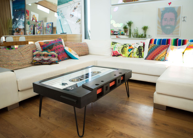 19. B-side by Taybles: The cassette tape coffee table gets affordable