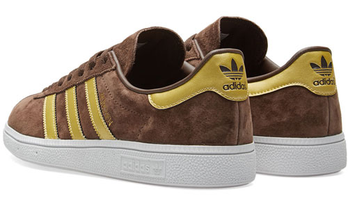 Adidas Munchen trainers reissue in brown and gold