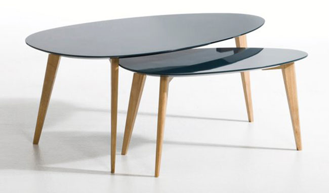 Flashback lacquered tables at La Redoute