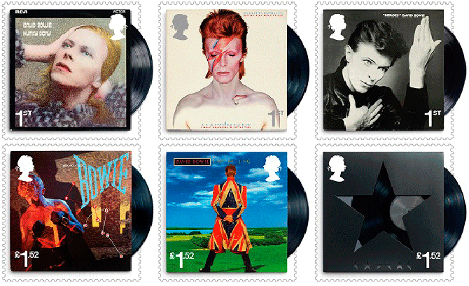 6. Royal Mail unveils David Bowie stamps plus limited edition souvenirs and gifts