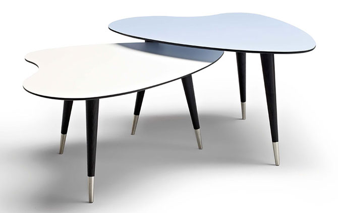 Danish retro coffee tables by Wharfdale