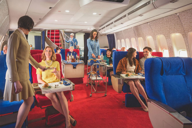 7. The Pan Am Experience – high-end retro dining on a 1970s 747 plane