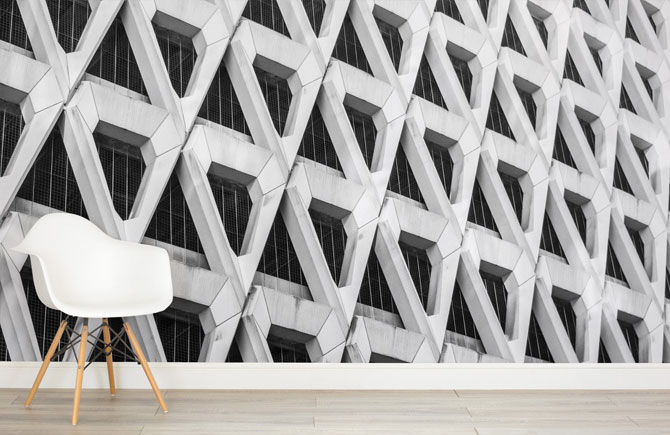 Brutalist Architecture wallpaper range by Murals
