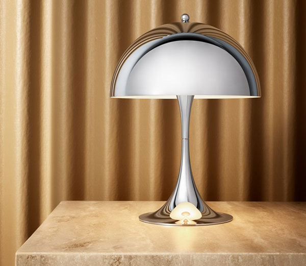 Verner Panton's 1970s Panthella Mini lamp returns in Chrome