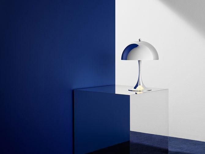 Verner Panton's 1970s Panthella Mini lamp returns in Chrome