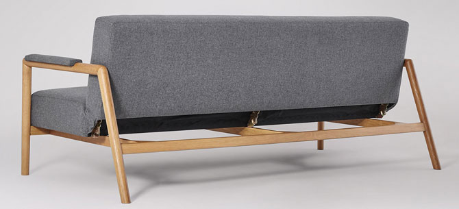 Darcy Scandinavian-style sofa bed at Swoon Editions