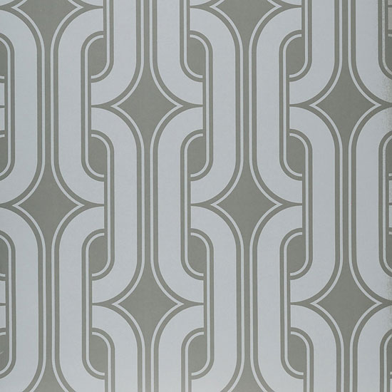 1970s Lavaliers wallpaper reissued by the Little Greene Paint Company