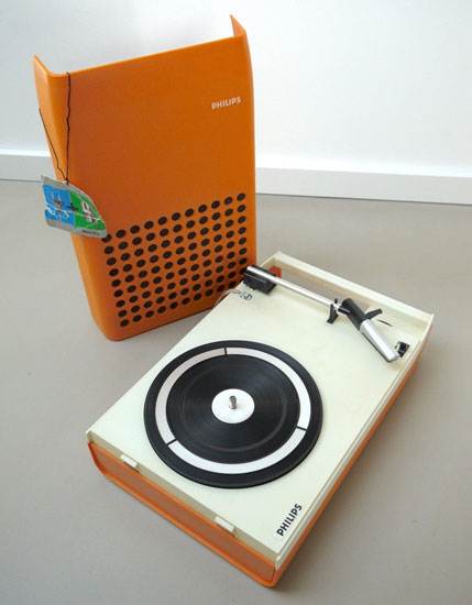 1970s Patrice Dupont-designed Philips 113 space age record player on eBay