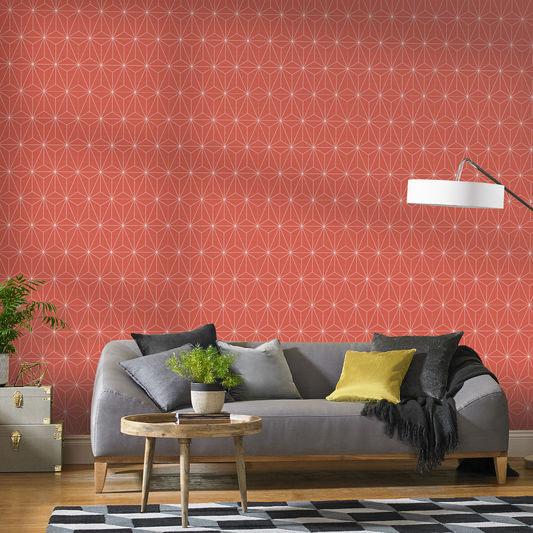 Midcentury-inspired Prism wallpaper at Graham & Brown