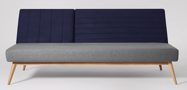Scarlett micentury-style sofa beds at Swoon Editions