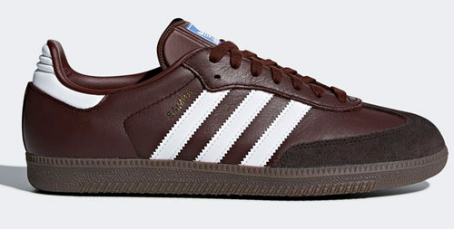 Adidas Samba OG trainers reissue in brown leather