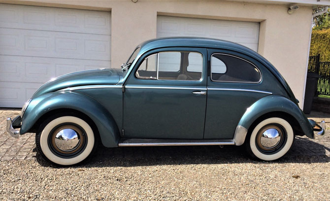 1955 Volkswagen Beetle in original condition on eBay