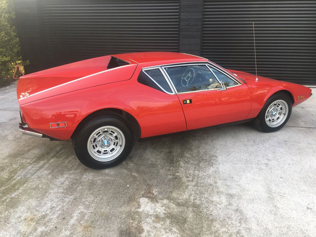 Fully restored 1972 Detomaso Pantera sports car on eBay