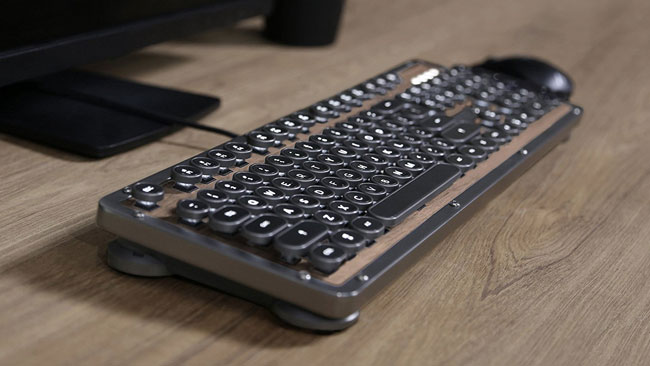 Elwood vintage-style mechanical keyboard by Azio