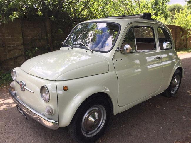 1967 Fiat 500 in cream on eBay