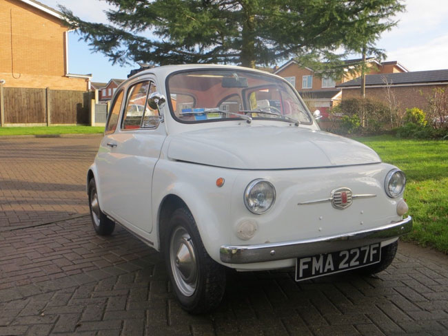 1967 Fiat 500F car on eBay