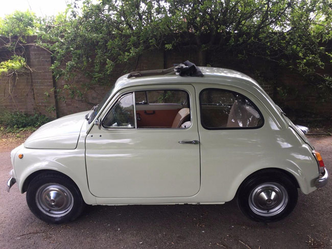 1967 Fiat 500 in cream on eBay