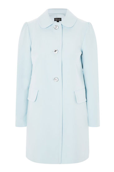 Retro Jewel Button Coat at Topshop