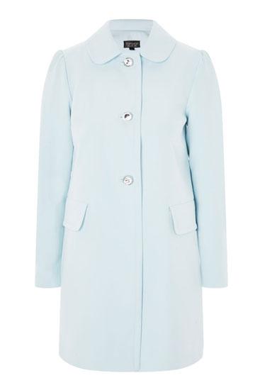 Retro Jewel Button Coat at Topshop