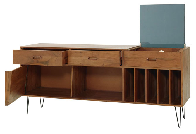 Gimmick midcentury record cabinet at Maisons Du Monde