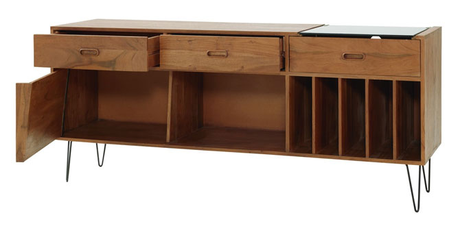 gimmick midcentury record cabinet at maisons du monde retro to go. Black Bedroom Furniture Sets. Home Design Ideas