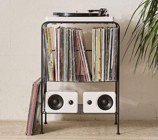 20. Melanie Vinyl Record Storage Shelf