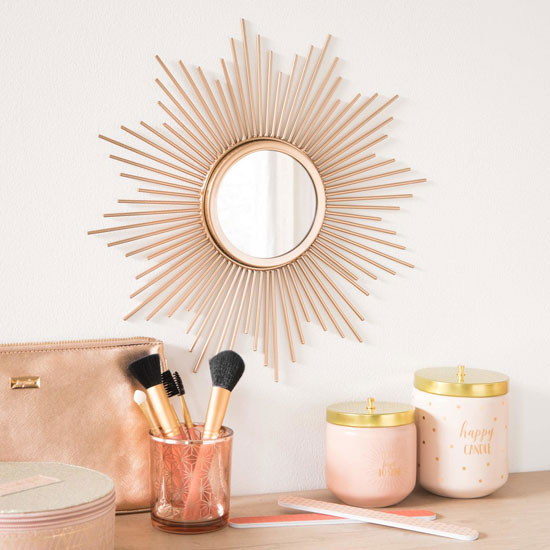 Gold sunburst mirror at Maisons Du Monde