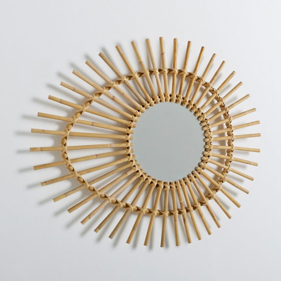 Nogu Eye-Shaped Vintage Rattan Mirror at La Redoute