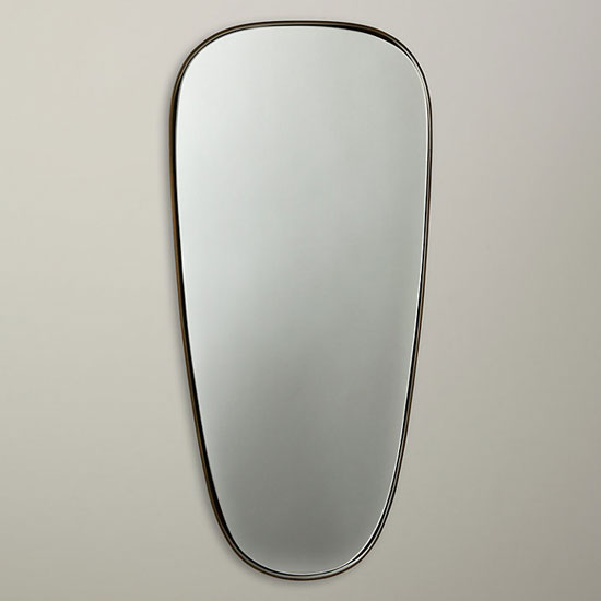 John Lewis Irregular Oval Mirror in brass