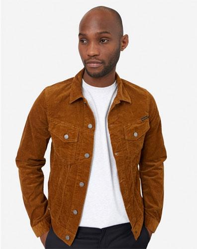 Billy brown cord trucker jacket by Nudie Jeans