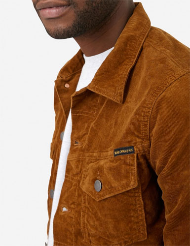 Billy brown cord trucker jacket by Nudie Jeans