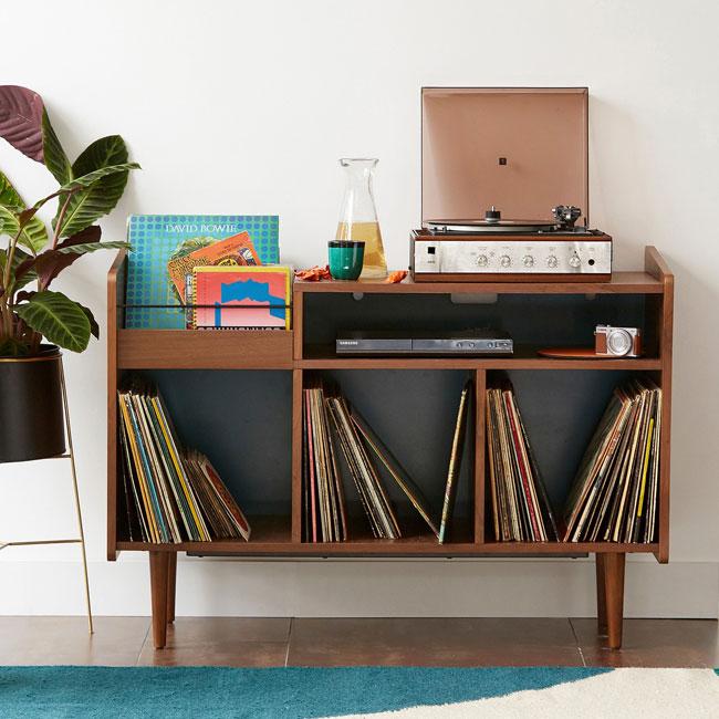 2. Ronda 1960s-style vinyl cabinet at La Redoute
