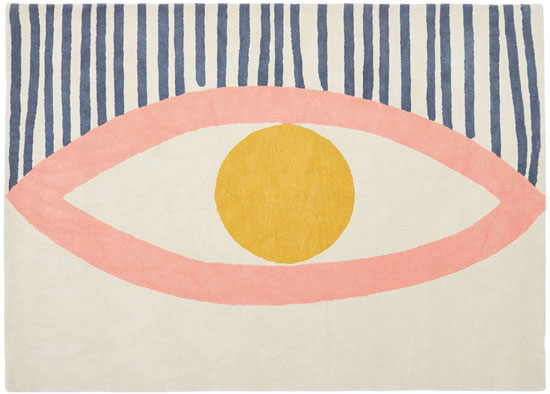 1950s-style abstract Eye and Face rugs at Habitat