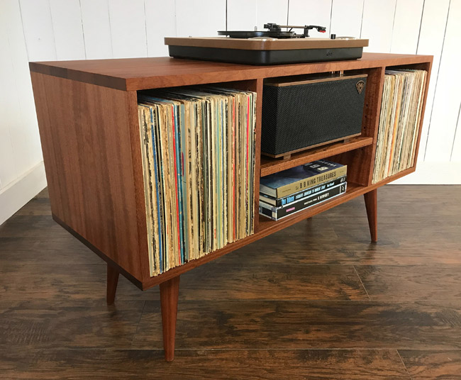19. Midcentury vinyl storage units by Scott Cassin