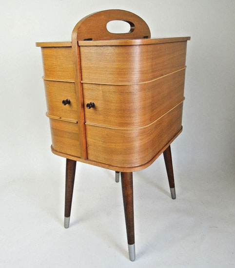 Original 1950s midcentury sewing box on eBay
