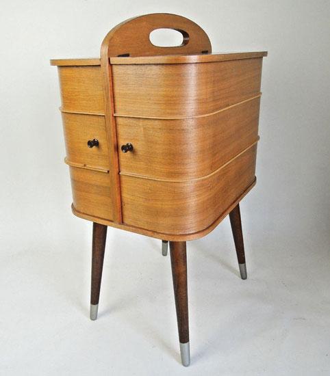Original 1950s midcentury sewing box on eBay