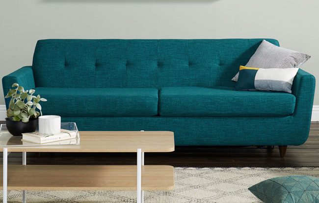 7. Hughes 1960s-style sofa bed at Joybird