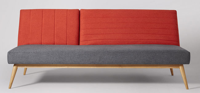 Scarlett midcentury-style sofa beds at Swoon Editions