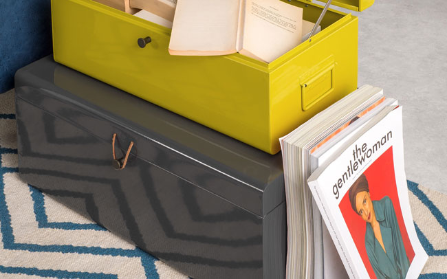 Vintage-style Daven storage trunks at Made