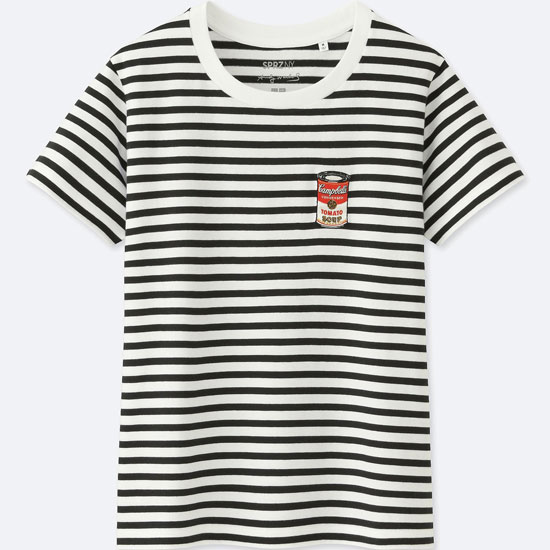 Andy Warhol striped t-shirts at Uniqlo