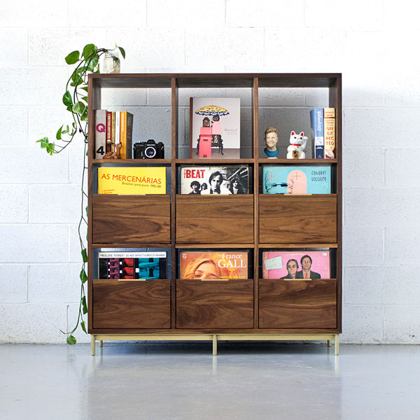Korgis record cabinet and bookshelf by Mitz Takahashi