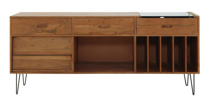 6. Gimmick midcentury record cabinet at Maisons Du Monde